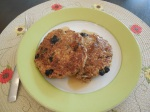 Vegan Blueberry Walnut Oatmeal Pancakes