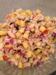 quinoa-white bean-nectarine salad