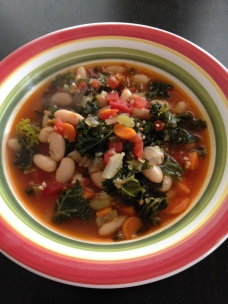 white bean-kale-quinoa soup